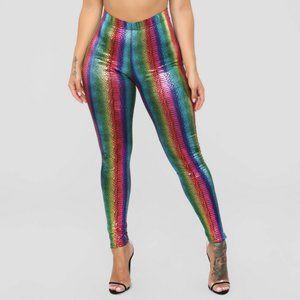 Metallic Rainbow leggings